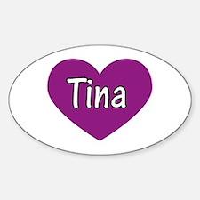 Tina Oval Decal