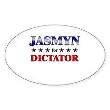 JASMYN for dictator Oval Decal