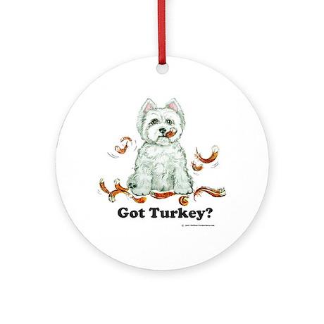 Westhighland Turkey Terrier Ornament (Round)