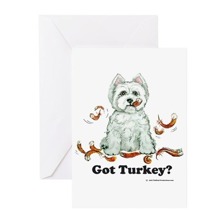 Westhighland Turkey Terrier Greeting Cards (Pk of