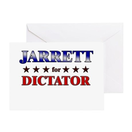 JARRETT for dictator Greeting Card