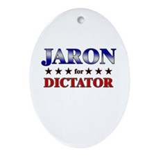 JARON for dictator Oval Ornament