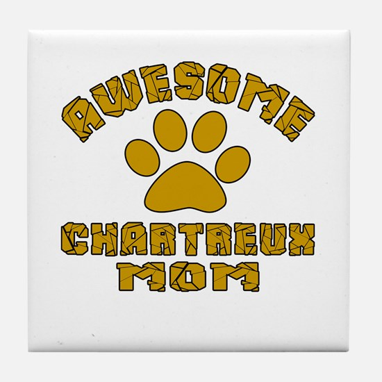 Awesome Chartreux Mom Designs Tile Coaster