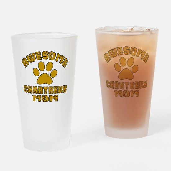 Awesome Chartreux Mom Designs Drinking Glass