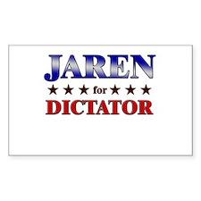 JAREN for dictator Rectangle Decal