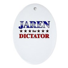 JAREN for dictator Oval Ornament