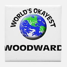 World's Okayest Woodward Tile Coaster