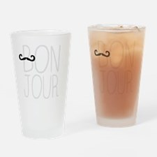 Cute Bon jour Drinking Glass