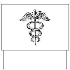 Asclepius Staff - Medical Symbol Yard Sign