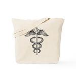 Asclepius Staff - Medical Symbol Tote Bag