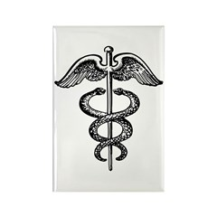 Asclepius Staff - Medical Symbol Rectangle Magnet