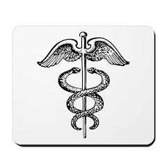 Asclepius Staff - Medical Symbol Mousepad