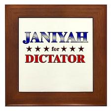 JANIYAH for dictator Framed Tile