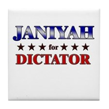 JANIYAH for dictator Tile Coaster