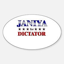 JANIYA for dictator Oval Decal