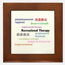 RT in Many Languages Framed Tile