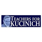 Teachers for Kucinich bumper sticker