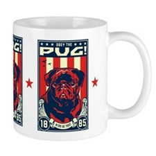 Obey the Black Pug! propaganda Mug