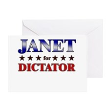JANET for dictator Greeting Card