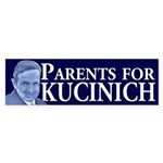 Parents for Kucinich bumper sticker