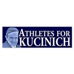 Athletes for Kucinich bumper sticker