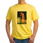 Fairies / Std Poodle(w) Yellow T-Shirt