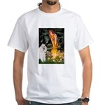 Fairies / Std Poodle(w) White T-Shirt