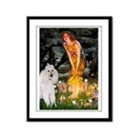 Fairies / Std Poodle(w) Framed Panel Print