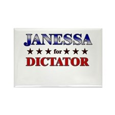 JANESSA for dictator Rectangle Magnet