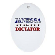 JANESSA for dictator Oval Ornament