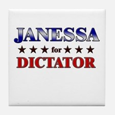 JANESSA for dictator Tile Coaster