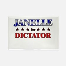 JANELLE for dictator Rectangle Magnet