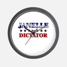 JANELLE for dictator Wall Clock