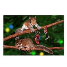 Squirrel Tree Lights Postcards (Package of 8)