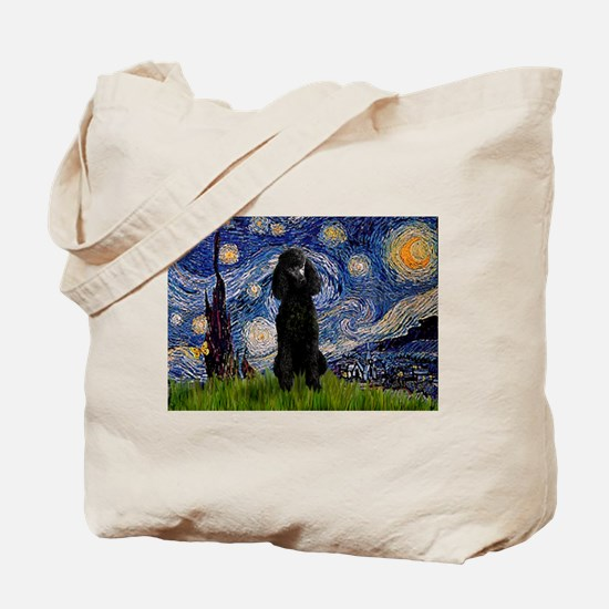 Starry / Std Poodle(bl) Tote Bag