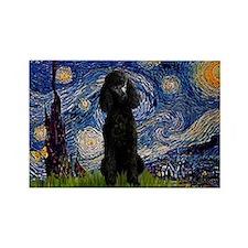 Starry / Std Poodle(bl) Rectangle Magnet