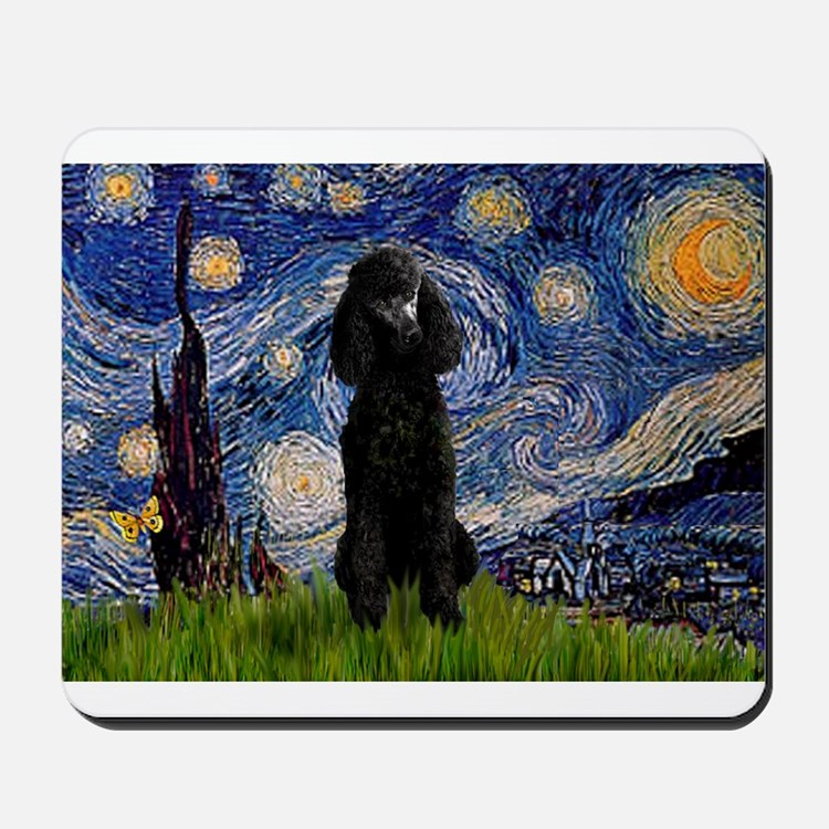 Starry / Std Poodle(bl) Mousepad