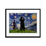 Starry / Std Poodle(bl) Framed Panel Print