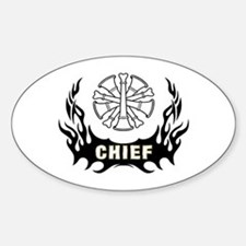 Fire Chief Tattoo Decal