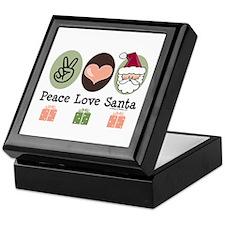 Peace Love Santa Christmas Keepsake Box