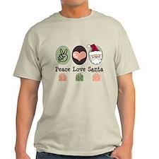 Peace Love Santa Christmas T-Shirt
