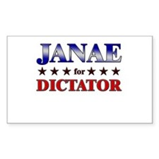 JANAE for dictator Rectangle Decal