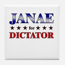 JANAE for dictator Tile Coaster