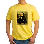 Mona / Std Poodle (bl) Yellow T-Shirt