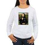 Mona / Std Poodle (bl) Women's Long Sleeve T-Shirt