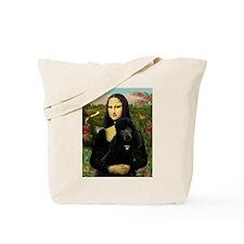 Mona / Std Poodle (bl) Tote Bag