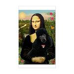 Mona / Std Poodle (bl) Sticker (Rectangle)