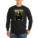 Mona / Std Poodle (bl) Long Sleeve Dark T-Shirt
