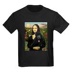 Mona / Std Poodle (bl) Kids Dark T-Shirt
