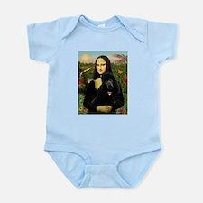 Mona / Std Poodle (bl) Infant Bodysuit